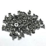 "(PKG of 100) 6-32 x 1/4"" Machine Screw, Phillips Flat Head, 18-8 Stainless Steel"