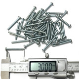 (PKG of 50) M3.5-0.6 x 30 mm Machine Screw, Phillips Pan Head, Steel ZP, M3.5x30