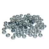 "(PKG of 100) 6-32 Hex Nut, Small Pattern, Zinc Plated Steel, 1/4"" Flats x 3/32"""