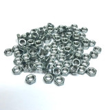 "(PKG of 100) 8-32 Hex Nut, Extra Small Pattern, Zinc Plated Steel, 1/4"" Flats x 3/32"""