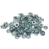 "(PKG of 100) 8-32 Hex Nut, Small Pattern, Zinc Plated Steel, 5/16"" Flats x 7/64"""