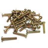 """(PKG of 50) 6-32 x 7/8"""" Machine Screw, Phillips Pan Head, Steel Zinc Yellow"""