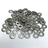 """(PKG of 100) #8 Stainless Steel Flat Washer, 0.375"""" OD x 0.049"""", MS15795-807"""