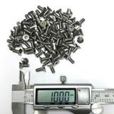 (PKG of 100) M4-0.7 x 10 mm Flat Socket Head Cap Screw, A2 Stainless, M4x10
