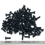 "(PKG of 100) 2-56 x 1/4"" Machine Screw, Phillips Pan Head, Black Oxide, Steel"