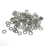 """(PKG of 100) #4 Internal Tooth Lock Washer, 410 Stainless Steel, 0.270"""" OD"""