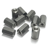 """(PKG of 10) Standoff, 1/4"""" Hex, F-F, 4-40, 7/16"""" Length, Stainless Steel"""