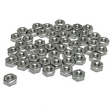 "(PKG of 50) 6-32 Hex Nut, 316 Stainless Steel, 5/16"" Flats x 7/64"" Thick"