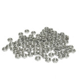 (PKG of 100) Metric M3 Hex Nut, A2 Stainless, M3-0.5, DIN 934, 5.5 mm Flats