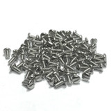 "(PKG of 100) 2-56 x 3/16"" Machine Screw, Slotted Pan Head, 18-8 Stainless Steel"