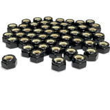 (PKG of 50) 8-32 Hex Lock Nut, Nylon Insert, Black Oxide, 18-8 Stainless Steel