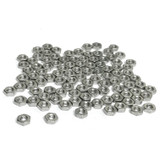 "(PKG of 100) 3-48 Hex Nut, 18-8 Stainless Steel, 3/16"" Flats x 1/16"" Thick"