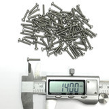 (PKG of 100) M2.5 x 14mm Machine Screw, Phillips Pan, A2 Stainless, M2.5x14