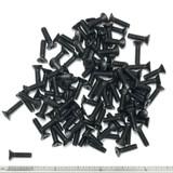 "(PKG of 100) 6-32 x 1/2"" Machine Screw, Phillips Flat, Black Oxide 18-8 Stainless"
