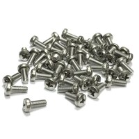 (PKG of 50) M4 x 10mm Machine Screw, Phillips Pan, A2 Stainless, M4x10