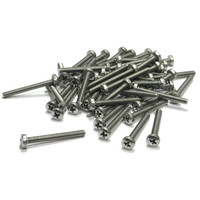 (PKG of 50) M3 x 25mm Machine Screw, Phillips Pan Head, A2 Stainless M3x25
