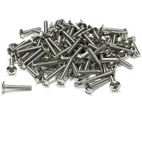 "(PKG of 100) 6-32 x 3/4"" Machine Screw, Phillips Truss Head 18-8 Stainless Steel"
