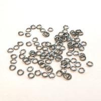 """(PKG of 100) #6 High Collar Split Ring Lock Washer, Stainless Steel, 0.216""""OD"""