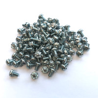 "(PKG of 100) 6-32 x 1/4"" SEMS Screw, External Tooth, Phillips Pan Head, Steel, Zinc"