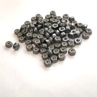 """(PKG of 100) 6-32 Hex Lock Nut, Nylon Insert, 18-8 Stainless Steel, 5/16"""" Flats"""