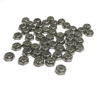 "(PKG of 50) 6-32 Hex Lock Nut, Thin, Nylon Insert, Stainless Steel, 5/16"" Flats"
