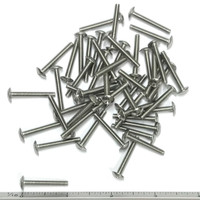 "(PKG of 50) 6-32 x 1"" Machine Screw, Phillips Truss Head, 18-8 Stainless Steel"