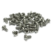 (PKG of 50) M4 x 8mm Machine Screw, Phillips Pan, A2 Stainless, M4x8
