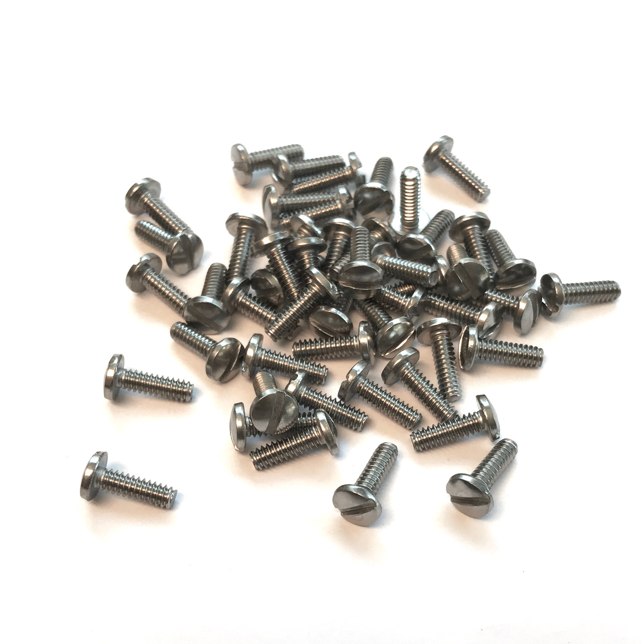 50 #6-32x5//16 Flat Head Slotted Machine Screws Stainless Steel
