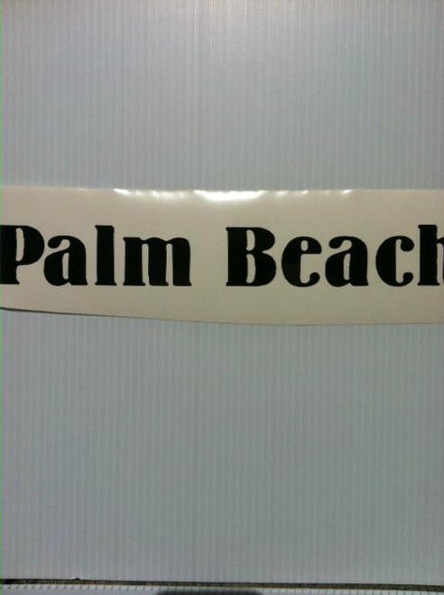 Palm Beach Decal
