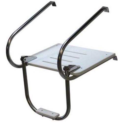 Inboard Outboard Swim Platform with 1 Step Ladder.