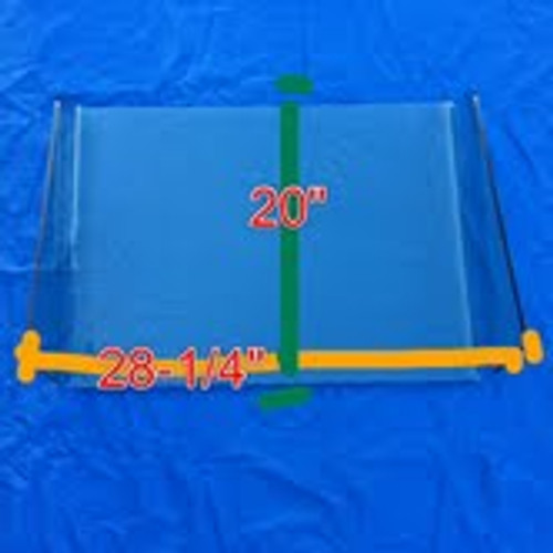 """28-1/4"""" X 20""""  1/4"""" Thickness marine grade acrylic"""