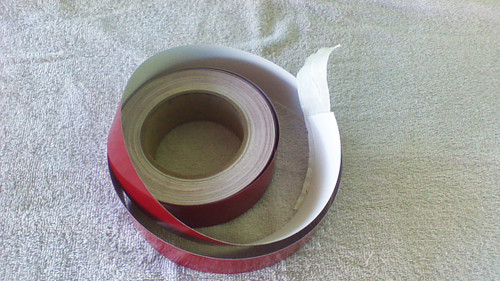 "1-1/4"" Burgandy Pin Striping 30' Roll"