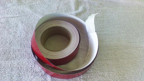 "1-1/4"" Burgandy Pin Striping 50' Roll"