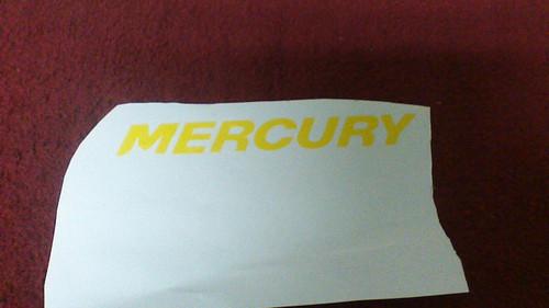 "Mecury Decal 7-1/2"""