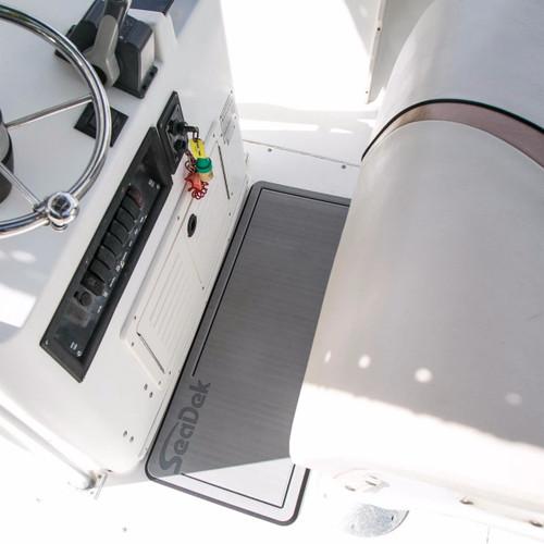 "SeaDek Removable Dual Density Helm Station Pad Storm gray on black 16"" X 36"""