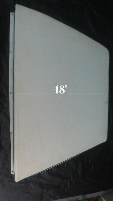 "Key Largo Bow Cushion White with teal green trim 33""X 64""X48"""