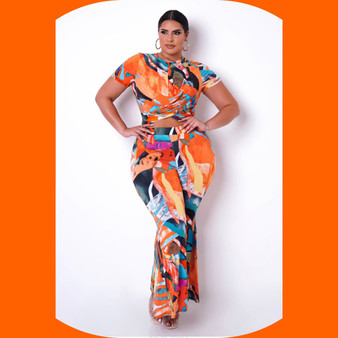 Abstract Two Piece Set