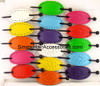 Leather With Plastic Slide Stick Oval Hair Stick - Assorted Colors
