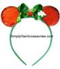 Christmas Ribbon Bow Mickey Mouse Head Band - 1 Pc.