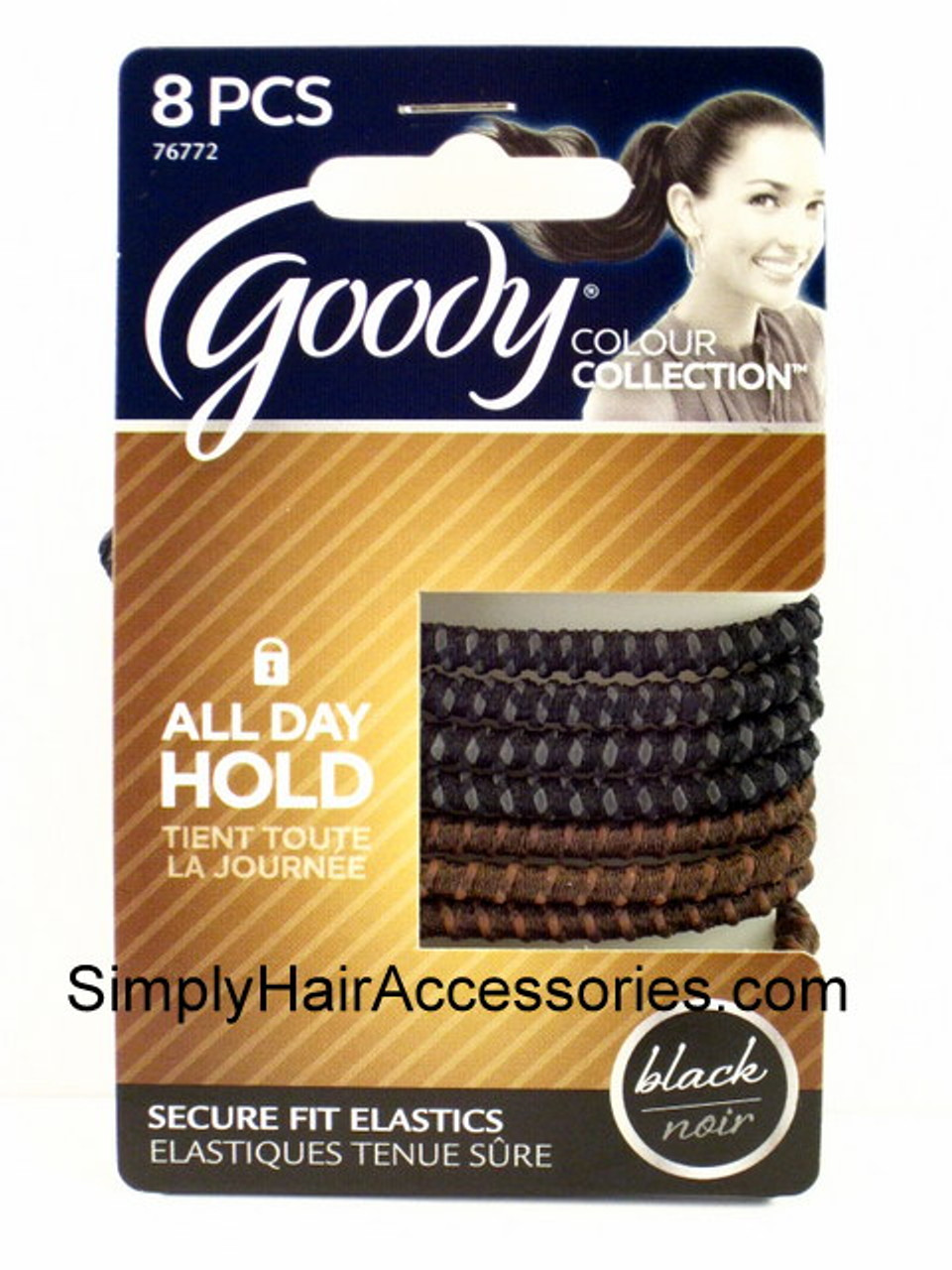 16 Goody StayPut Hair Tie Elastic Silicone Ponytailer No Slip Grip Slide Proof