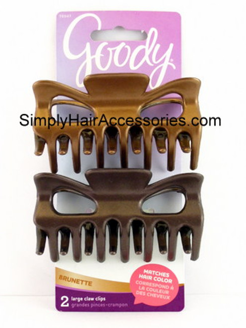 Goody Colour Collection Brunette Large Claw Hair Clips