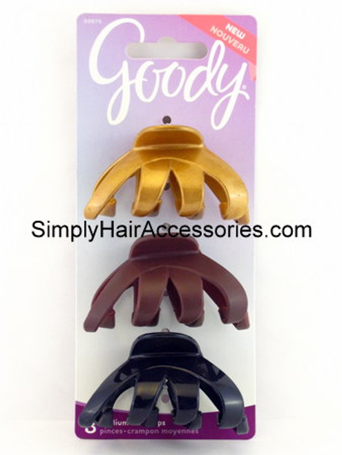 Goody Dark Romance Medium Claw Hair Clips - 3 Pcs.