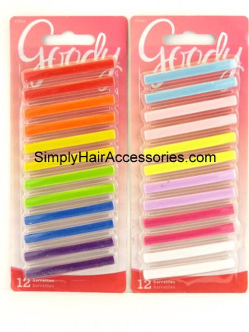 Goody Girls Best Friend Staytight Hair Barrettes -  12 Pcs.
