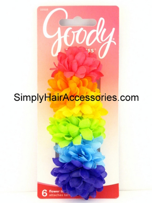 Goody Girls Terry O Flower Ponytailers - 6 Pcs.