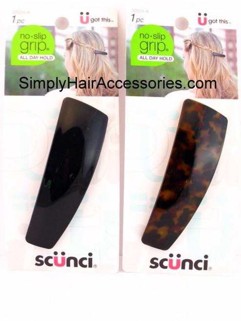 1 PC. SCUNCI NO SLIP GRIP  AUTO-CLASP HAIR BARRETTE 17852-GL