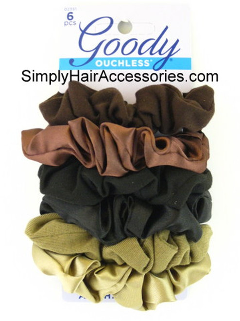 "Goody Ouchless ""Starry Nights Colors"" Hair Scrunchies - 6 Pcs."