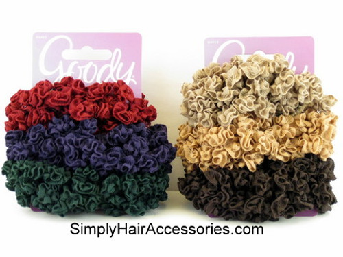 Goody Ouchless Medium Loop Ribbon Scrunchies - 3 Pcs.