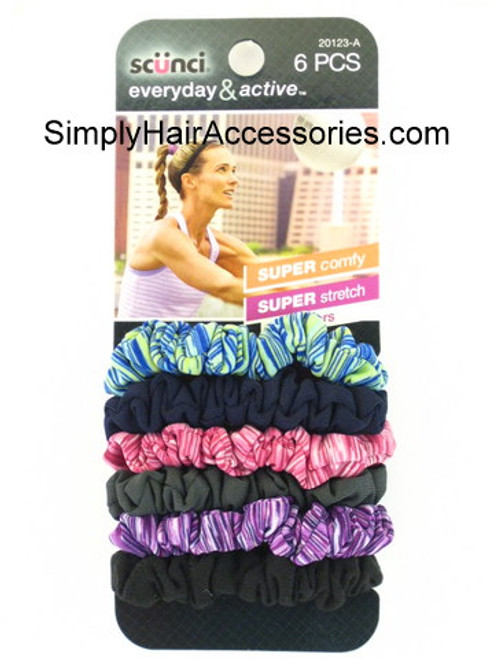 Scunci Everyday & Active Ponytailers - 6 Pcs.