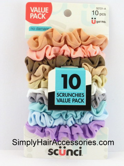 Scunci Value Pack Scrunchies - 10 Pcs.