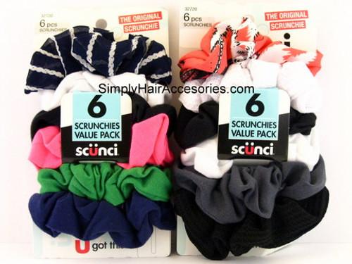 Scunci Value Pack Scrunchies - 6 Pcs.